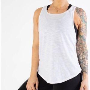 White workout tank top